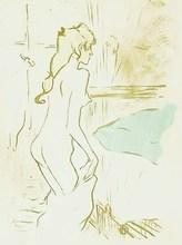 亨利•德•图卢兹-洛特雷克 - 版画 - Etude de femme