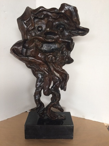 "Salvador DALI - Sculpture-Volume - Faun (aka ""MAN – HEAD – HORNS"")"