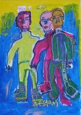 JAZZU - Peinture - Devenir un homme