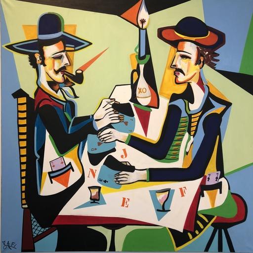 ZAFI - Painting - Les tricheurs