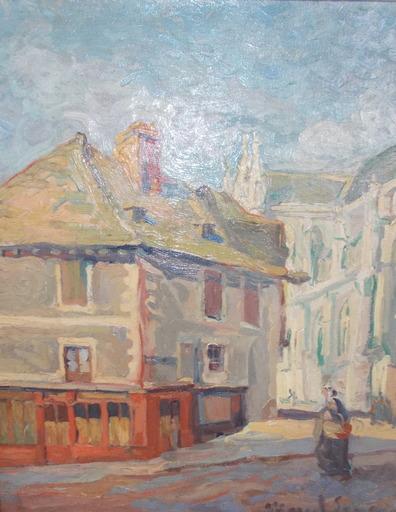 MARCEL-LENOIR - Peinture - Rue de village