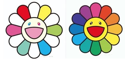 Takashi MURAKAMI - Grabado - Smile every day with Flowers / Smile On, Rainbow Flower!