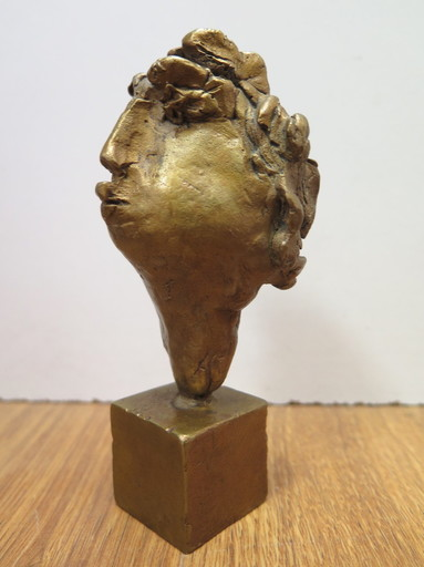 Blasco MENTOR - Sculpture-Volume - Petite tête d'homme joufflu