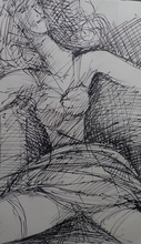 Marcel GROMAIRE - Dibujo Acuarela - Nu assis