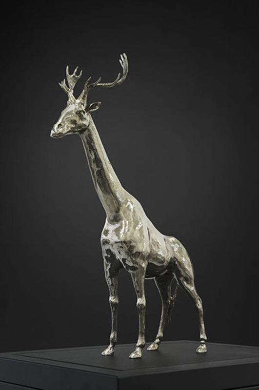 Mauro CORDA - Escultura - Girafe-cerf