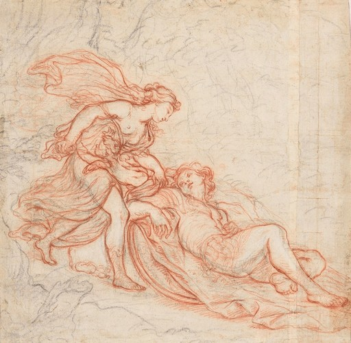 François MAROT - Drawing-Watercolor - Renaud et Armide