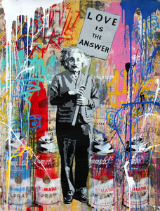 MR BRAINWASH - Dessin-Aquarelle - EINSTEIN