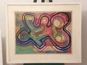Raymond TRAMEAU - Disegno Acquarello -  abstraction sans titre