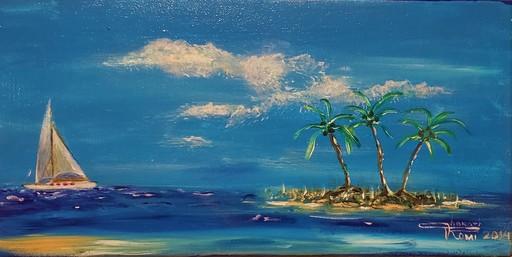 "Romeo DOBROTA - Painting - ""Window"" in the sky"