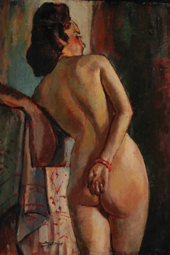 Seweryn SZRAJER - 绘画 - Nude from the back
