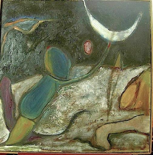 Olga KARCYEWSKA - Painting - Cosmonautes