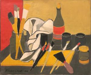 Henri WORMSER - Peinture - Les outils du peintre, 1954