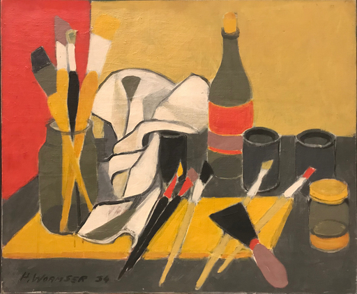 Henri WORMSER - Painting - Les outils du peintre, 1954