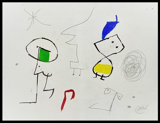 Joan MIRO - Drawing-Watercolor - personnages - figures