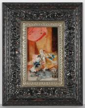 "Antonio RIBAS OLIVER - Painting - ""Harem scene"" oil on panel, late 19th Century"