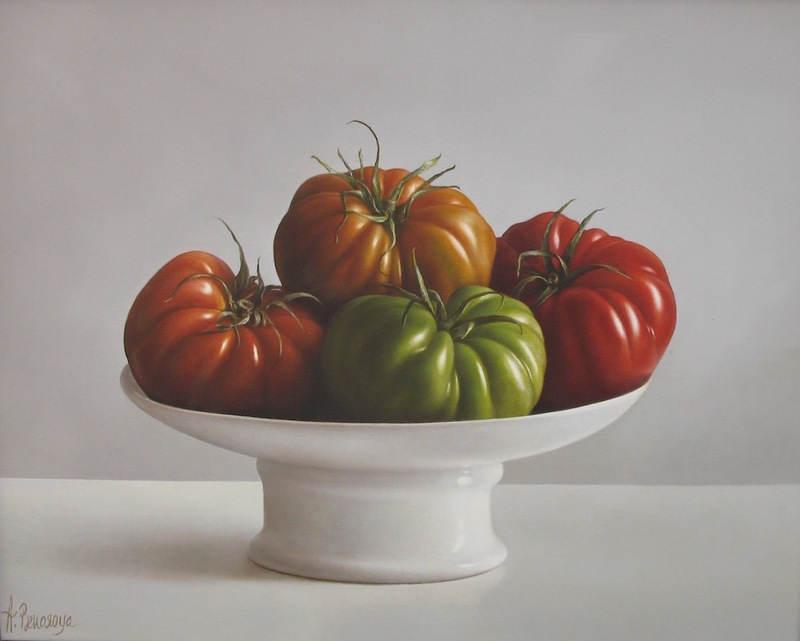 Albert BENAROYA - Painting - Tomatoes