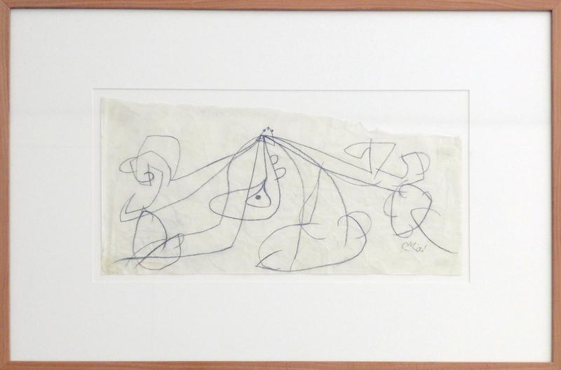 Joan MIRO - Drawing-Watercolor - Personnage II