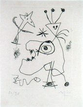 Joan MIRO (1893-1983) - L'Aigrette