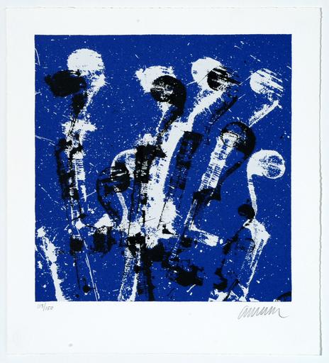 阿尔曼 - 版画 - Manches de violons bleus