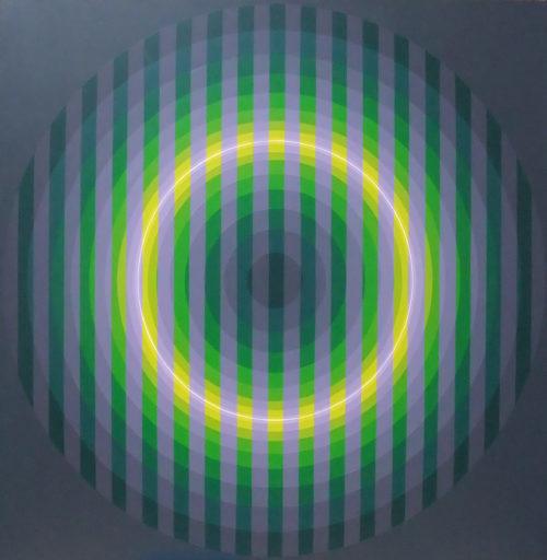 Horacio GARCÍA ROSSI - Peinture - Couleur lumière en cage