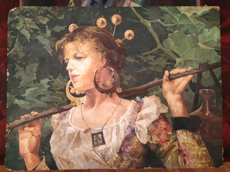 Francesco Paolo MICHETTI - Painting - Campesina Con Cantaros