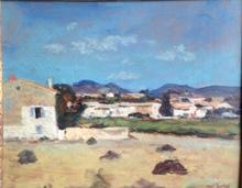 Paul SURTEL - Painting - Le bas de Caromb/Lubéron