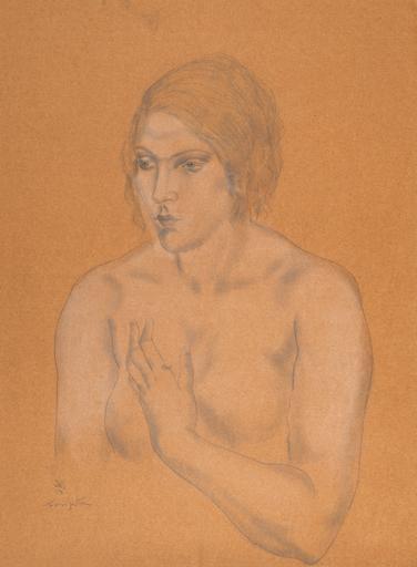 Tsuguharu FOUJITA - Drawing-Watercolor - Buste de femme
