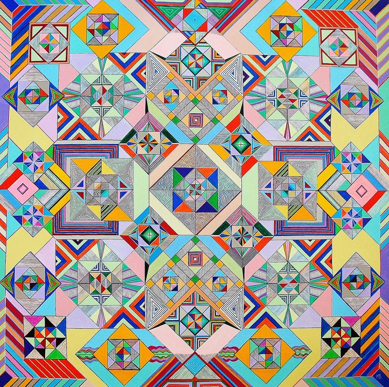 Monique BERTINA - Peinture - Mosaique