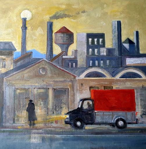 Paolo CHIAPETTO - Painting - Paesaggio Triste - Omaggio a Sironi