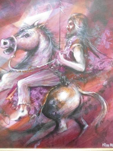 Pierre MAS - Peinture - Le cavalier.