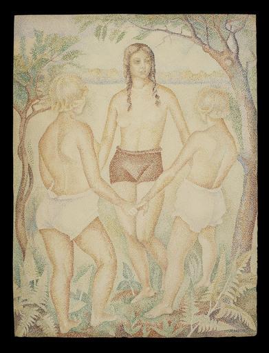 Marie Vorobieff MAREVNA - Drawing-Watercolor - La Danse