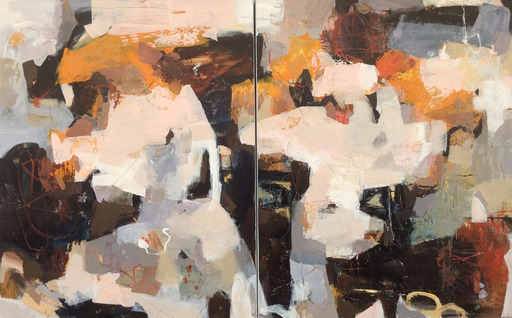 Linda COPPENS - Painting - Poetry of life - diptych 2