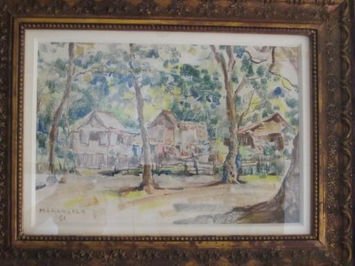 Vicente Silva MANANSALA - Painting - Nipa Huts
