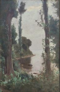 François BOCION - Painting - Embouchure de la Chamberonne
