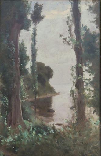 François BOCION - Gemälde - Embouchure de la Chamberonne