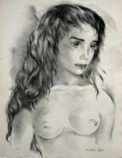 Mariette LYDIS - Druckgrafik-Multiple - visage de femme