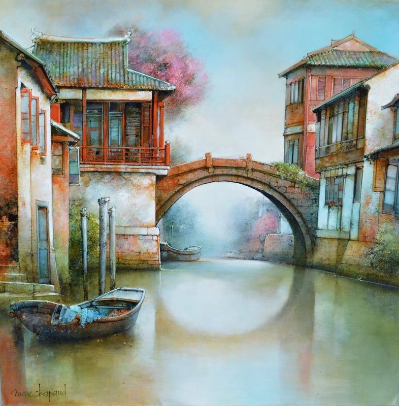 Marc CHAPAUD - Painting - VILLAGE MILLENAIRE DE ZHOU ZHOUANG