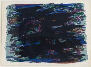 Alfred MANESSIER - Estampe-Multiple - Composition abstraite
