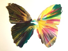 Damien HIRST - Pintura - Spin painting (Butterfly)