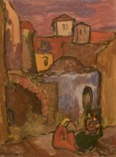 Jakob STEINHARDT - Painting - Women in Zeffat