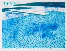 David HOCKNEY - Estampe-Multiple - Swimming Pool