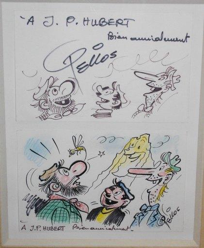 PELLOS - Disegno Acquarello - Les pieds nickelés