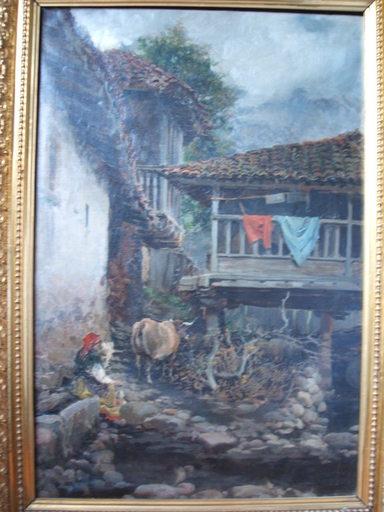 Salvador MARTÍNEZ CUBELLS - Pintura - Hórreo Asturiano