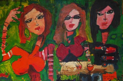 Astolfo FUNES - Painting - Le tres Marie