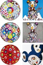 Takashi MURAKAMI (1962) - Red Flower Ball (3-D)/ Thoughts on Matisse/ Flowerball: Want