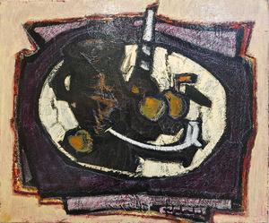 Jef FRIBOULET - Pittura - Nature morte au bougeoir