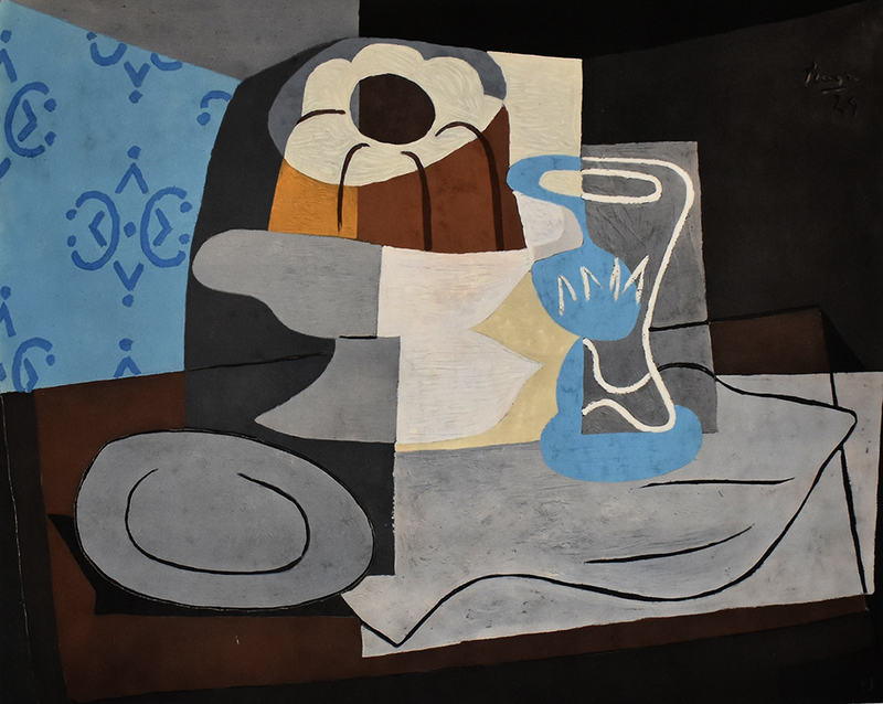 Pablo PICASSO - Print-Multiple - Still Life with Charlotte Cake