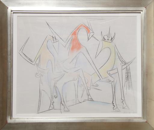 Wifredo LAM - Drawing-Watercolor