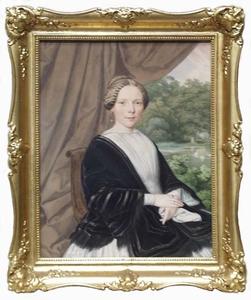 "Josef ZUMSANDE - Zeichnung Aquarell - ""Portrait of a Lady"", Watercolour"