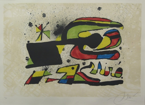 Joan MIRO - Estampe-Multiple - Gos i Ocell